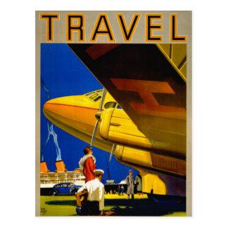 Vintage Travel Poster Restored Postcard