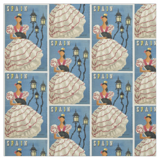 Vintage Travel Spain customizable fabric