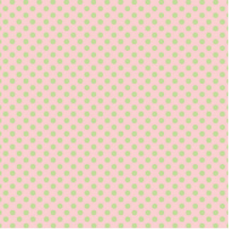 Vintage Trendy Baby Pink Green Polka Dots Pattern Standing Photo Sculpture