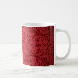 Vintage trendy damask coffee mug