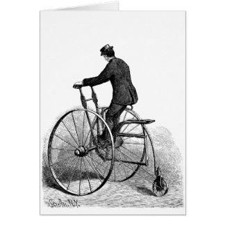 Vintage Tri-cycle Victorian Three Wheel Bicycle Card