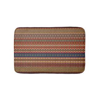 Vintage tribal aztec pattern bath mat
