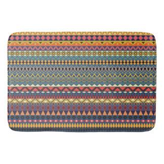 Vintage tribal aztec pattern bath mats