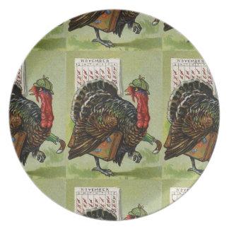 Vintage Turkey Thanksgiving Plate