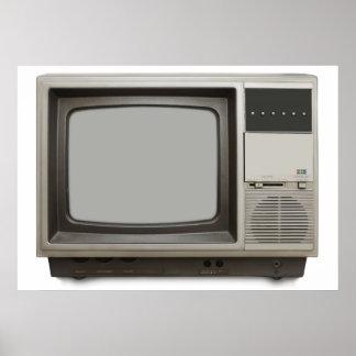 vintage tv set poster