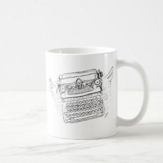 Vintage Typewriter I Heart Writing Basic White Mug