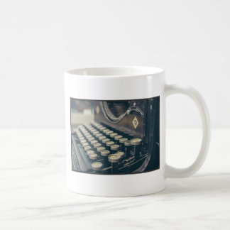 Vintage Typewriter Basic White Mug