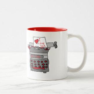 Vintage Typewriter Whimsy Love Mug
