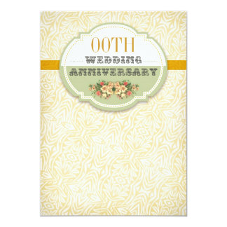 vintage typography anniversary card