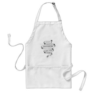 vintage typography fabric design aprons