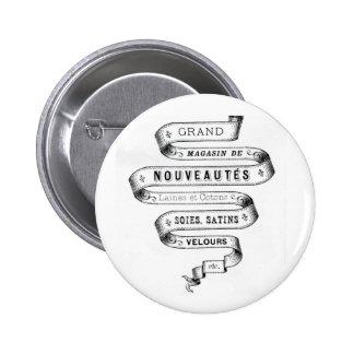 vintage typography fabric design pins