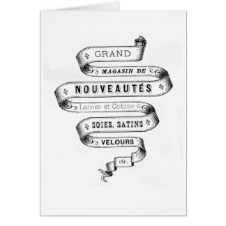 vintage typography fabric design greeting card