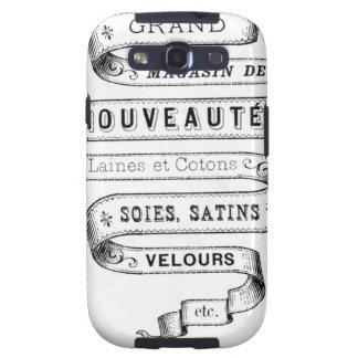 vintage typography fabric design samsung galaxy s3 case