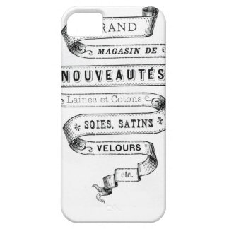 vintage typography fabric design iPhone 5 cases