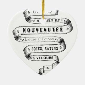 vintage typography fabric design christmas tree ornaments