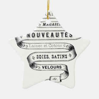 vintage typography fabric design christmas ornaments