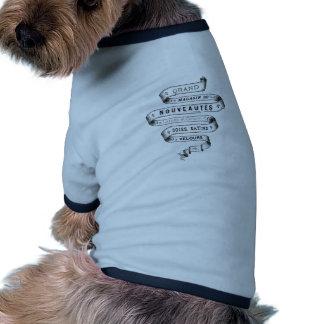 vintage typography fabric design doggie t-shirt