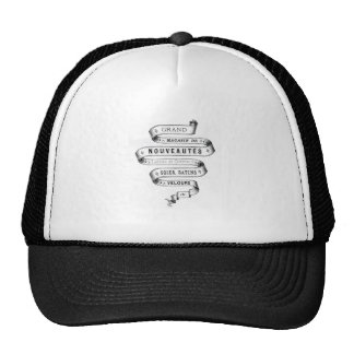 vintage typography fabric design trucker hat