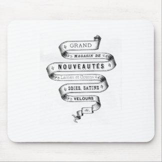 vintage typography fabric design mousepads