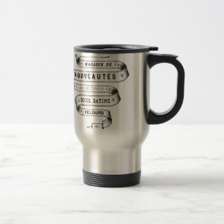 vintage typography fabric design coffee mug