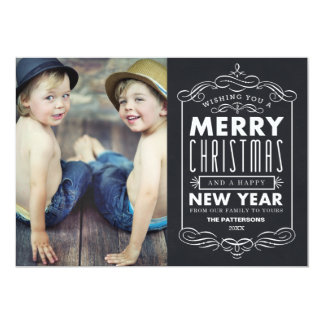 VINTAGE TYPOGRAPHY | HOLIDAY PHOTO CARD