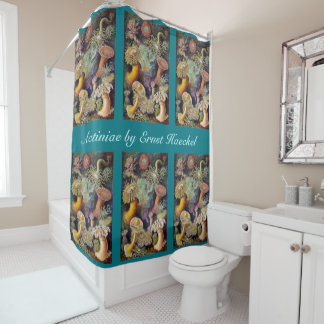 Vintage Underwater Sea Anemones by Ernst Haeckel Shower Curtain