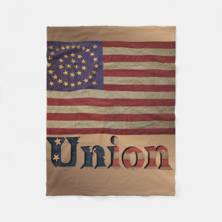 Vintage USA Union Flag Fleece Blanket