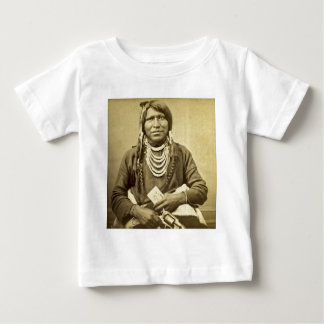 Vintage Ute Indian Poker Player with Pistol Baby T-Shirt