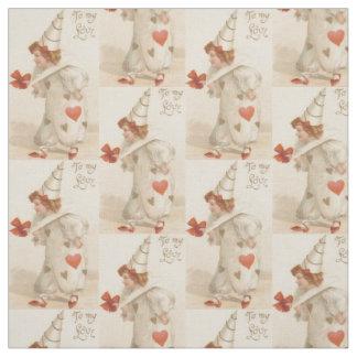 Vintage Valentine Clown Fabric