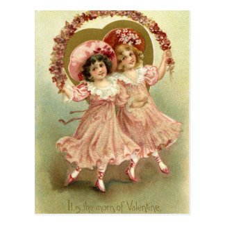 Vintage Valentine's Day Friendship Postcard