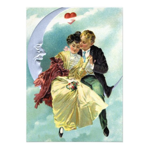 Vintage Valentine's Day Victorian Love and Romance Invitation