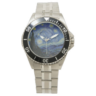 Vintage Van Gogh Starry Night Wristwatch