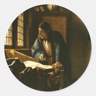Vintage Vermeer The Geographer Sticker
