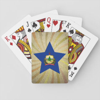 Vintage Vermonter Flag Swirl Playing Cards