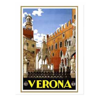 Vintage Verona Italy Postcard
