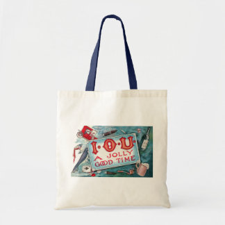 Vintage Vices Party, Gambling Drinking Smoking Tote Bag