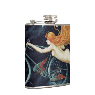 Vintage Victorian Art Nouveau, Gladiator Cycles Flasks