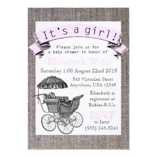 Vintage Victorian Baby Shower Invite