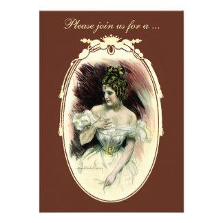 Vintage Victorian Bridal Shower Invitation