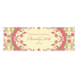 Vintage Victorian Daisy Floral Favour Tags Pack Of Skinny Business Cards