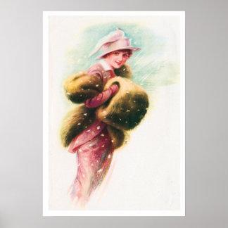 Vintage Victorian Elegant Lady Art Print Poster