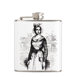 Vintage Victorian Farm Lady Flasks
