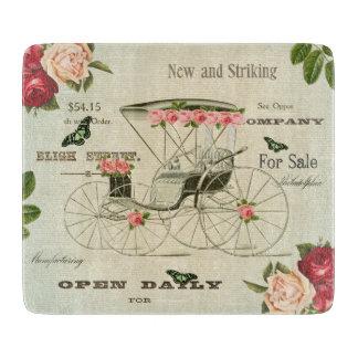 Vintage victorian girly cutting board w flowers