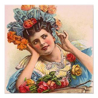 Vintage Victorian In Roses Invitation Invites