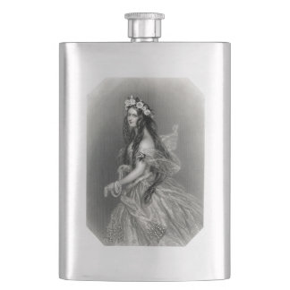Vintage Victorian Lady Flask