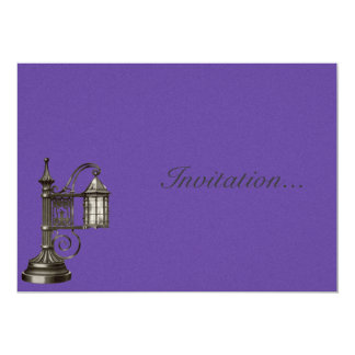 "Vintage Victorian Lamp Illustration 5"" X 7"" Invitation Card"