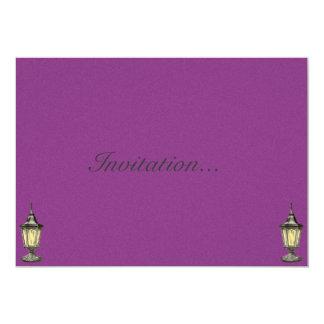 "Vintage Victorian Lamps Illustration 5"" X 7"" Invitation Card"