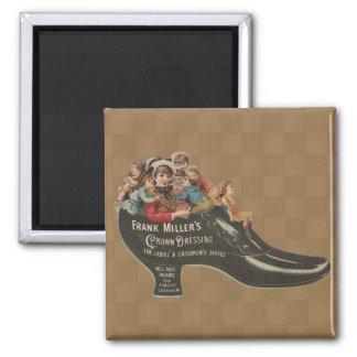 Vintage Victorian Mother/Children Shoe Magnet