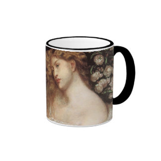 Vintage Victorian Portait, Lady Lilith by Rossetti Ringer Mug