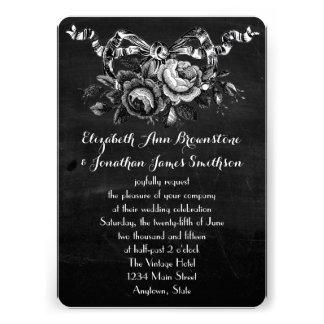 Vintage Victorian Roses Wedding Invite